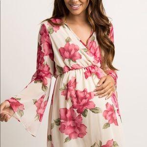 Pinkblush Floral Chiffon Wrap Dress🌸